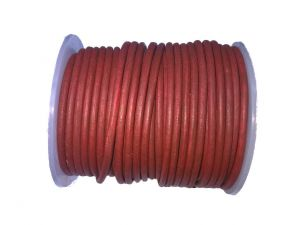 Leathercord 3mm Red Dyed