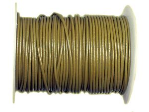 Lederband Khaki 2mm