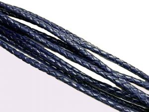 Leathercord Braided 5mm Blueberry
