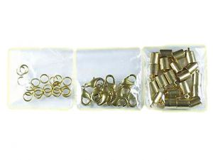 Leathercord Clasp Brass 3.5mm Kit Bigpack