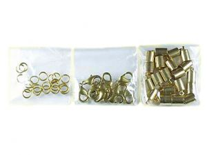 Leathercord Clasp Brass 4.5mm Kit Bigpack