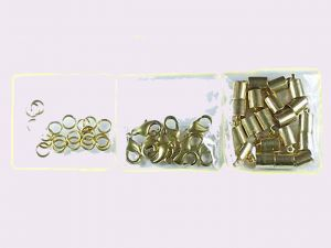 Leathercord Clasp Brass 5.5mm Kit Bigpack