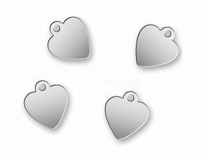 Logo Charms Hearts Stainless Steel 10 Pcs