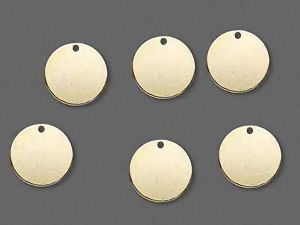 Logo pendants goldplated 12mm 10 PCS