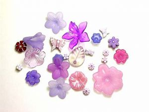 Lucite Flower Mix Purple