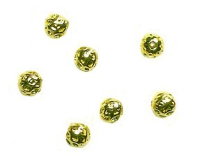 Messingperlen rund vergoldet