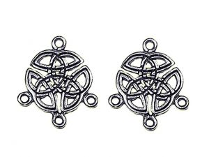 Earring Charm Celtic Trinity silverplated