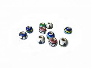 Ceramic Beads Rondelle Mixed 5mm