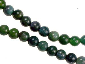 Beads Moss Agate 8mm