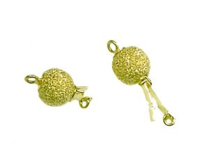 Clasp bead stardust goldplated 8mm