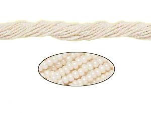 Czech Seed Beads Pearl White