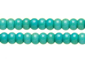 Chalk Turquoise Rondelle Beads