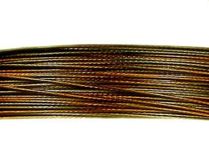 Jewelry wire 0,38mm brown