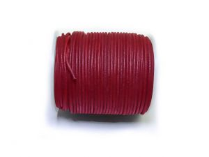 Leathercord 2mm Red Dyed