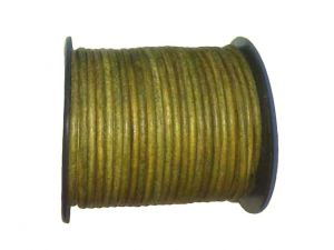 Spool Leathercord 3mm Green Dyed
