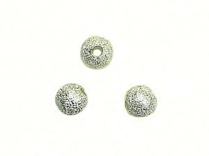 Beads stardust silver plated 6mm