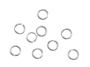 Jumprings open 950 Silver 5,2mm 10pcs.