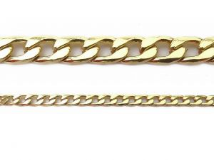 Stainless Steel Gold-Plated Curb Chain 4.5mm Unfinished