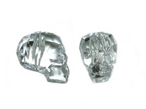 Skull Bead Swarovski Passion Crystal Clear19mm