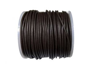 Leathercord 2mm Darkbrown Dyed