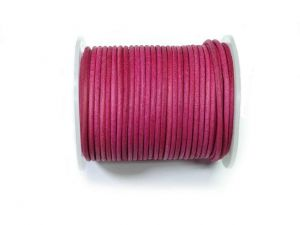 Leathercord 2mm Dyed Fuchsia