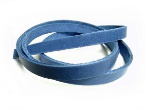 Lederband flach 10mm Denim Timber 1m