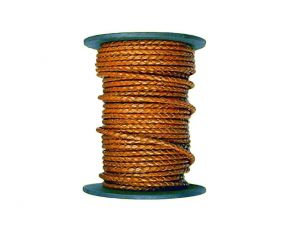 Leathercord braided bronze 4mm