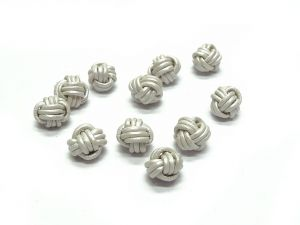 Leather Beads10mm Knots Mother of Pearl
