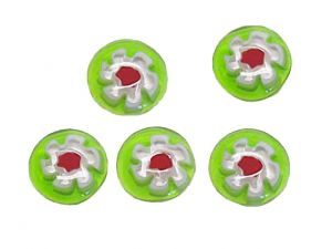 Millefiori Glass Cabochons Kiwi 12mm