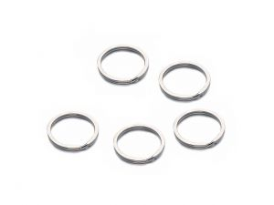 Key Rings Stainless Steel 15mm 5 PCS