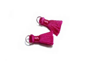 Nylon Tassels With Jump Ring 20mm Fuchsia 2 Pcs.