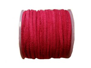 Suede Leathercord Lace Pink Red 3mm
