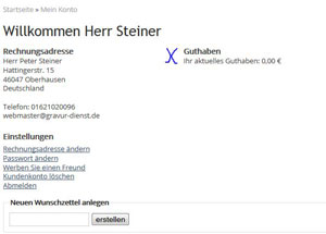 Screenshot Gutschein
