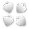 Logo Charms Hearts Sterling Silver