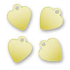 Logo Charms Hearts Brass 9,2mm x 10,5mm