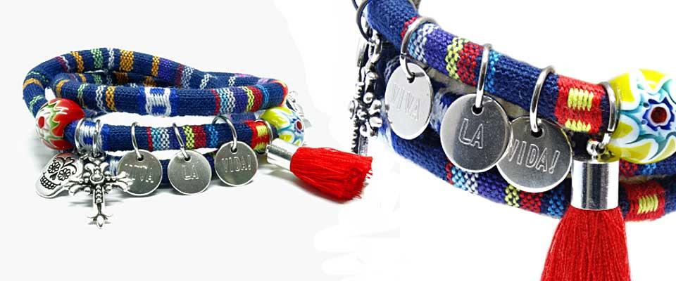 Ethno-Armband mit Message Anh�ngern