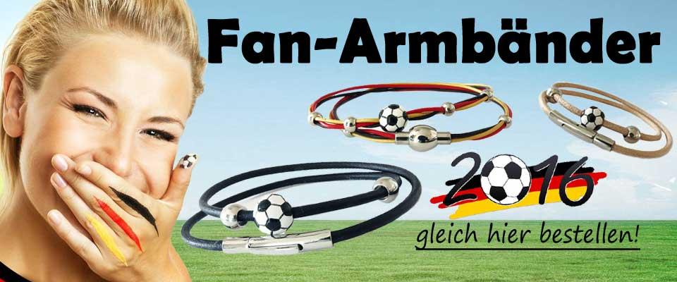 Fu�ball Fan-Schmuck: Armb�nder aus Lederband