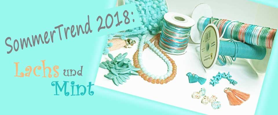 Schmucktrend 2018 Lachs und Mint